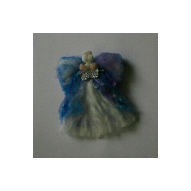 41e0dc08c186 Uldengel med farvet kjole og vinger - Jule engle - Uglen i mosen
