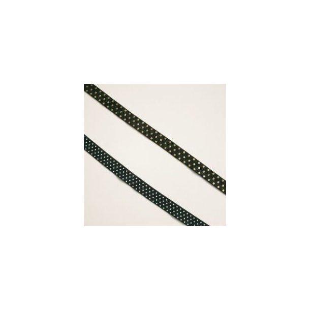 Folde elastik, sort med guld prikker
