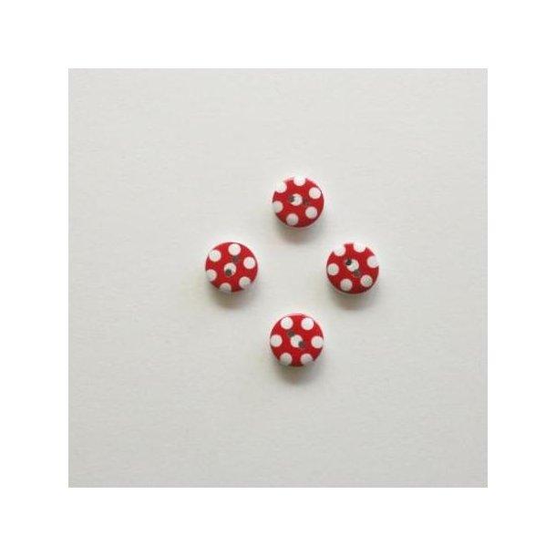 Røde prikkede knapper