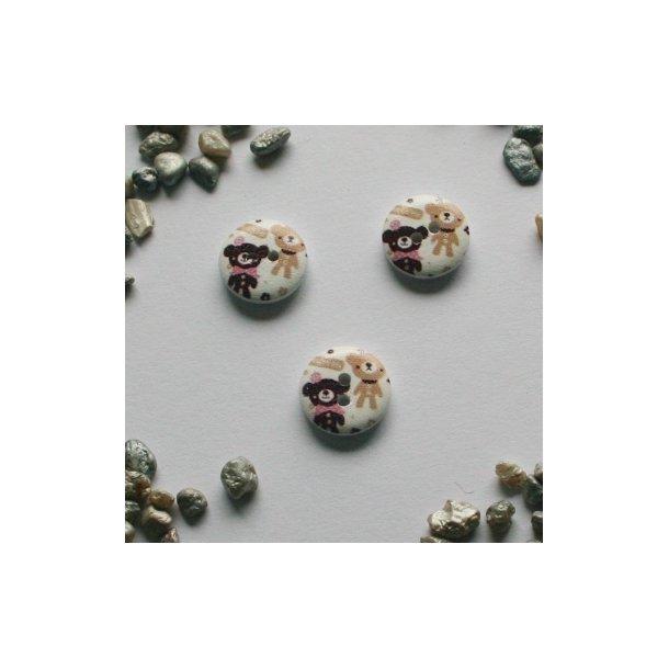 Hvid malet knap med bamser