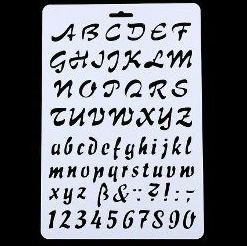 skabeloner tal og bogstaver