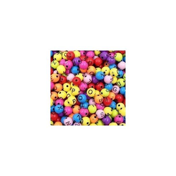 Sjove bogstav kugler, blandede farver