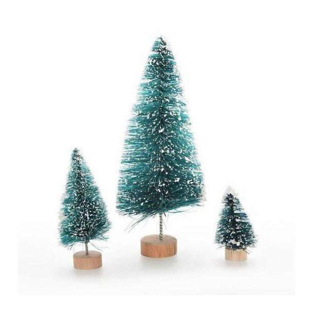 Mellem juletræ med fod, 6,5 cm høj