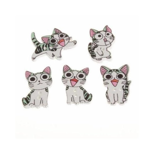 Søde katte knapper