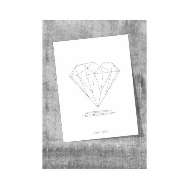 Kort/poster, Diamant