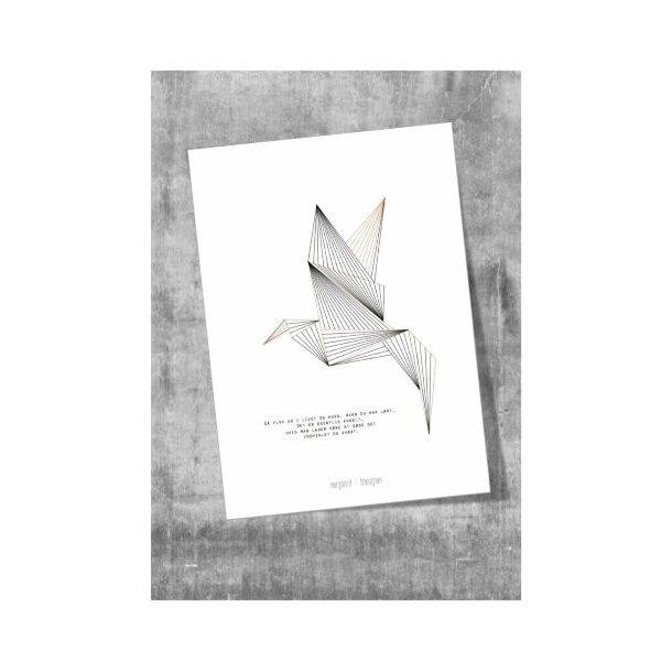 Plakat, fuglen