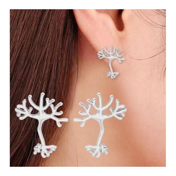 Øreringe, formet som neuron