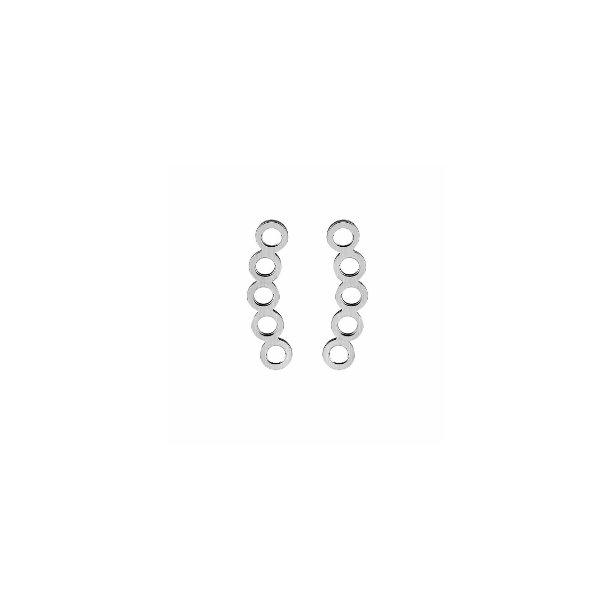 Enkle øreringe med cirkler i stav