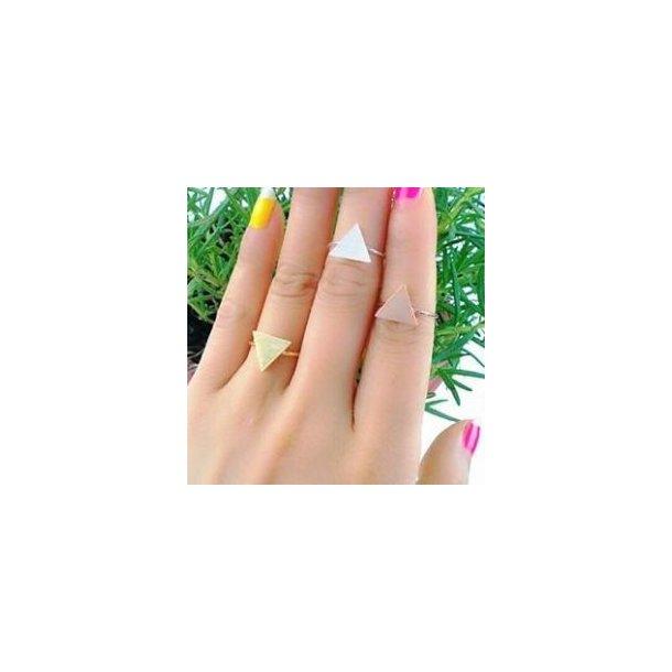 Enkel ring med trekant