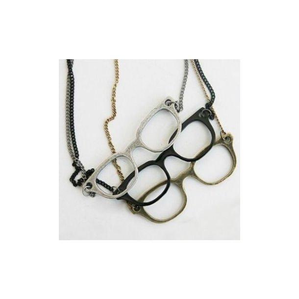 Lang halskæde med briller