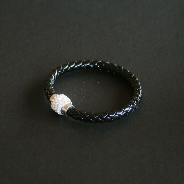Læder armbånd med magnetlås