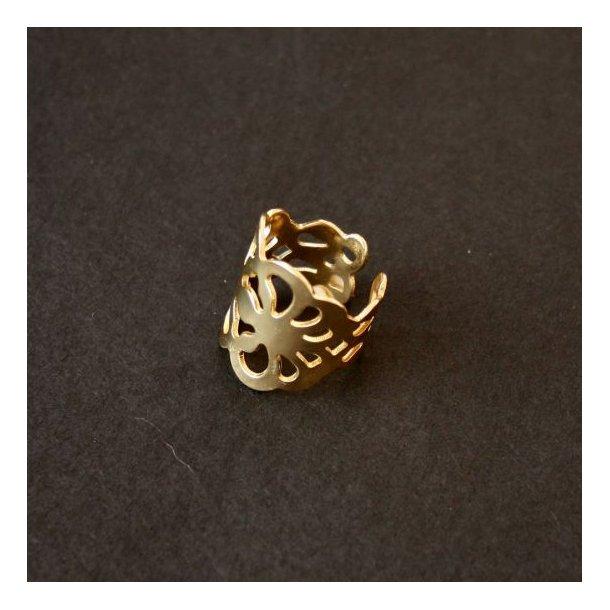 Gylden flettet ring