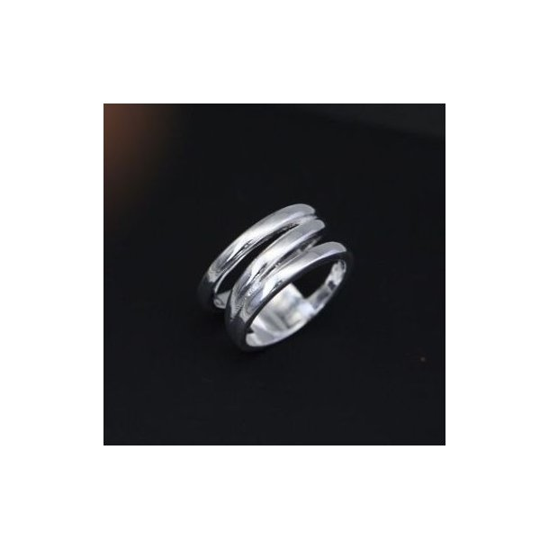Ring, opdelt med sølvbelægning