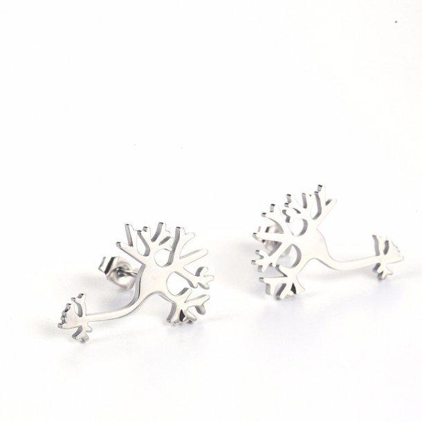 Øreringe med neuron/ livets træ