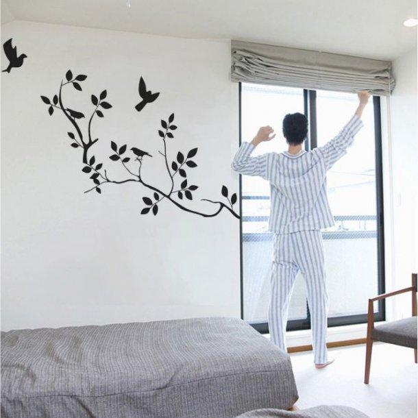 Tre sort-hvide wallstickers til dit hjem