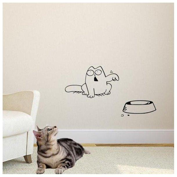 Sjov wallsticker med kat