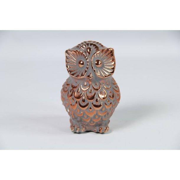 Messing belagt keramik ugle