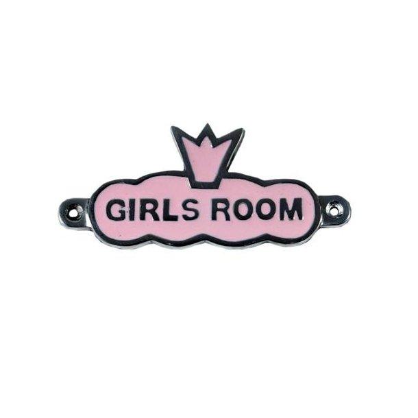 Lille emaljeskilt til pigeværelset
