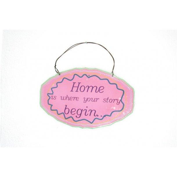 Emaljeskilt med tekst - Home