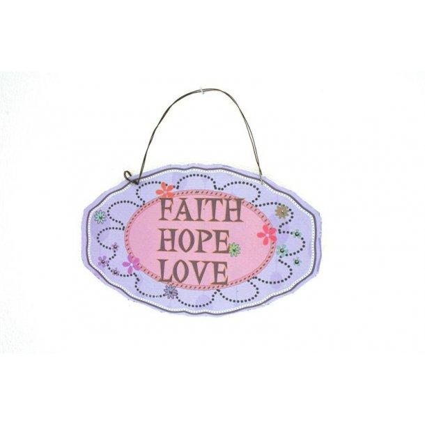 Emaljeskilt med tekst - Faith