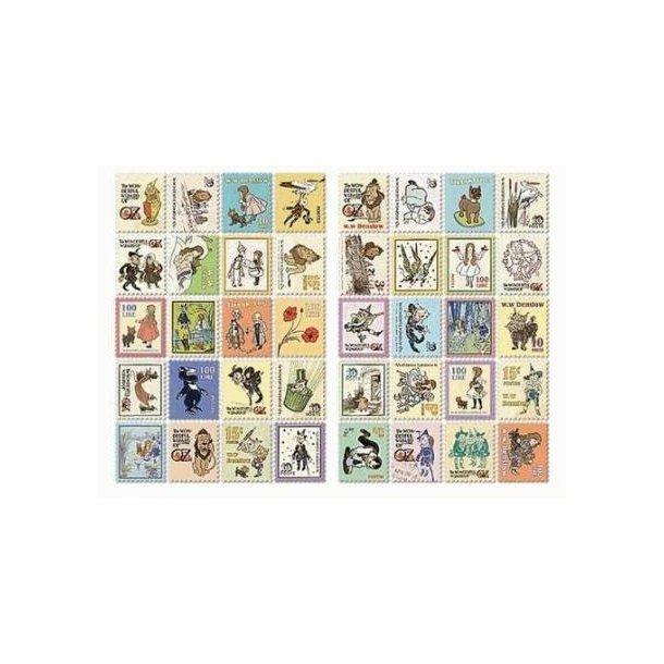 80 frimærkestickers