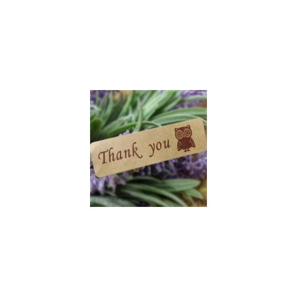 Thank you stickers med ugler