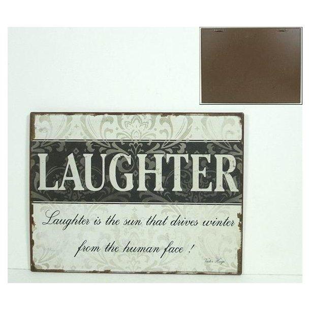 Emaljeskilt med tekst - Laughter