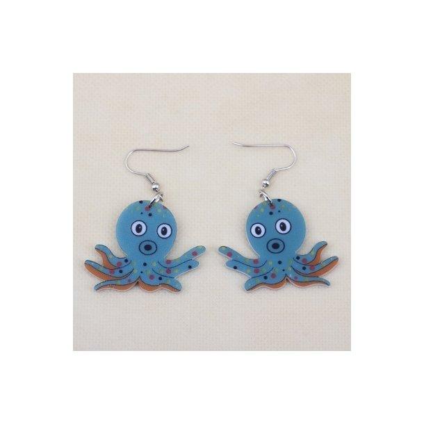 Plexiglas øreringe med blæksprutter