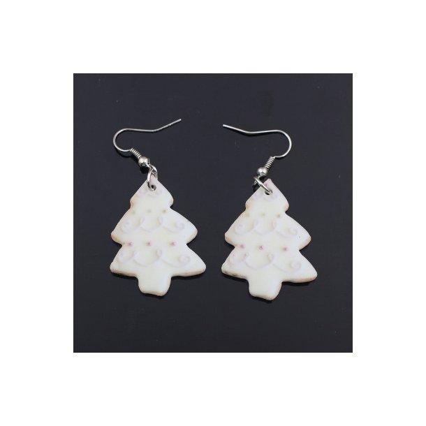 Plexiglas øreringe med juletræ