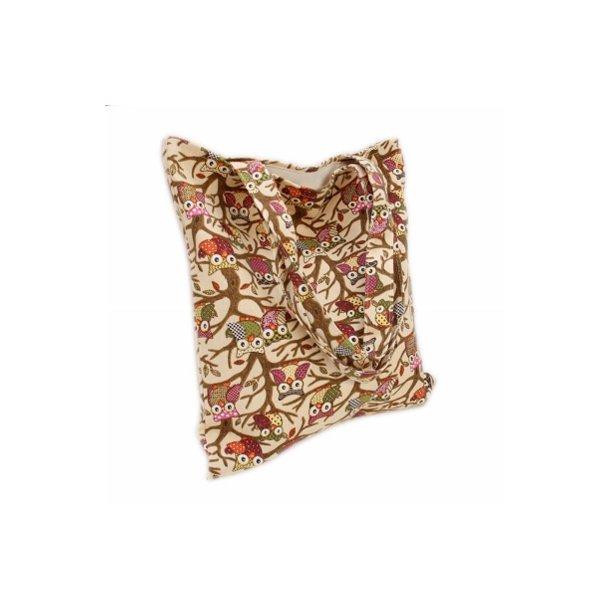 Ugle taske af trykt bomuld